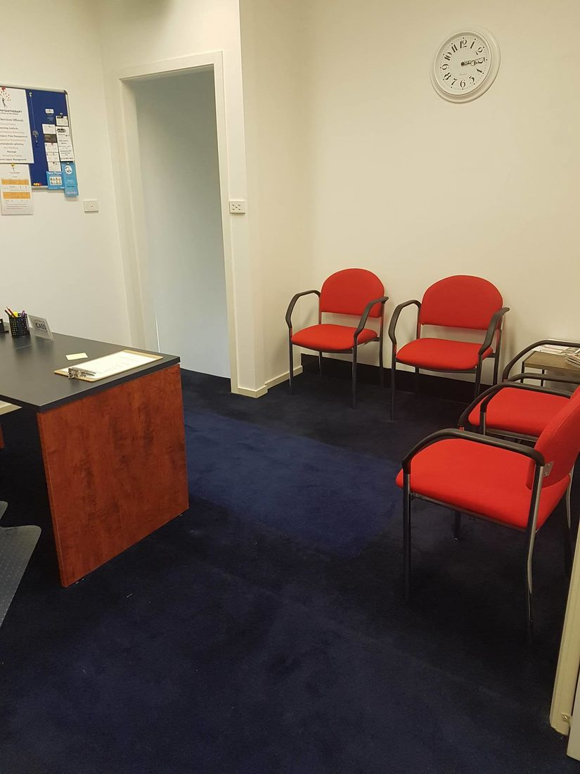 Reception area at Prime Physiotherapy clinic East Doncaster